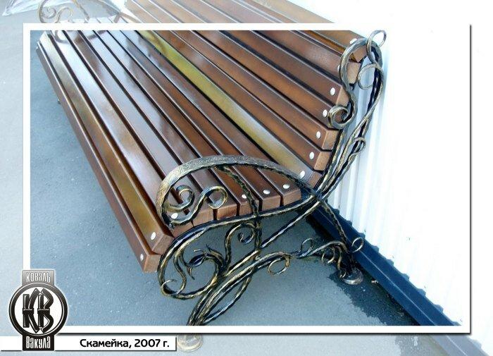 кованые скамейки лавочки